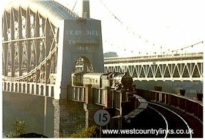 Brunel Bridge ,Saltash Town, Cornwall.