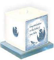 Candles for new born and Christenings Heart Candle to show you care  Candle as a personalised keepsake present or gift